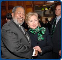 Thomas White, Jr with Hillary Clinton